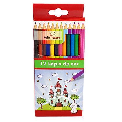 Lápis de cor 12 Cores Win Paper