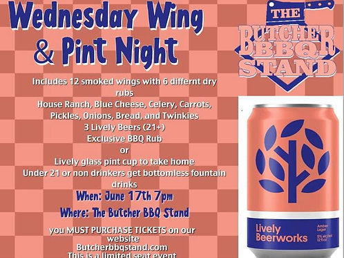 1 Entree Wednesday Wing Night