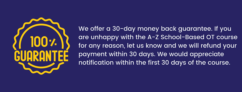 We offer a 30-day money back guarantee.