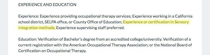 OT Job Description