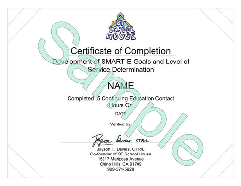 5 PDU - Episode 3: SMART-E Goals and Determining Level of Services