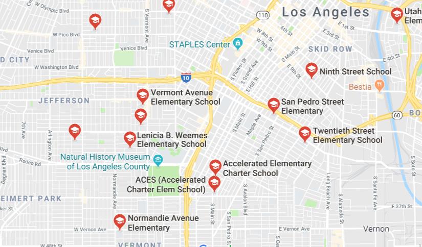 Map of Schools