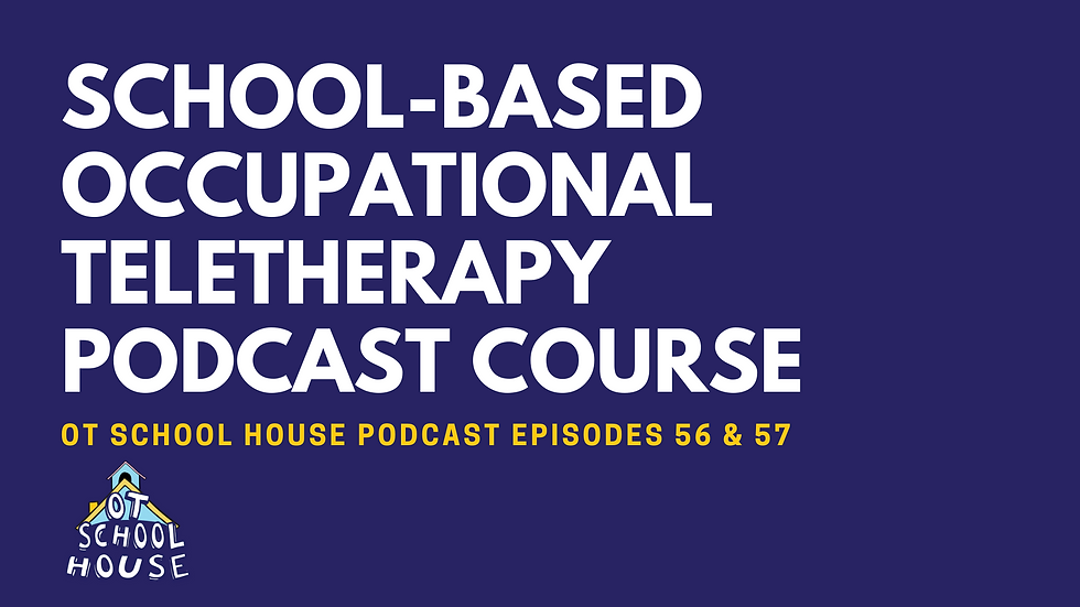 School-Based Teletherapy Podcast Course: 2 Contact Hours