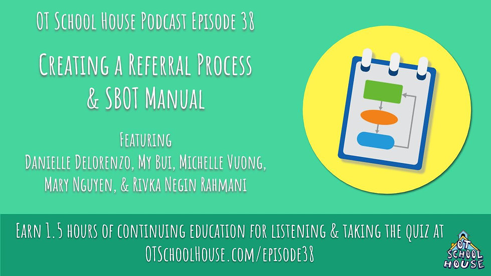 1 Contact Hour - Episode 38: Creating a Referral Process& SBOT Manual