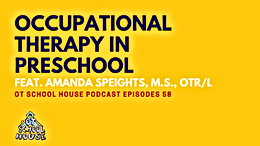 Occupational Therapy in Preschool: OT School House Podcast Episode 58