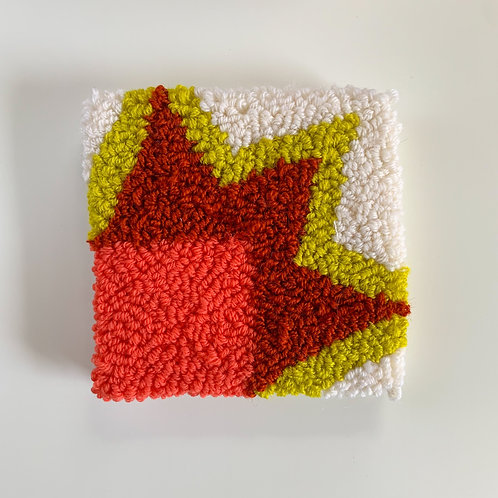 Small Punch Needle Art - American Quilt Inspired