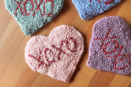 Sew-on Heart Patches