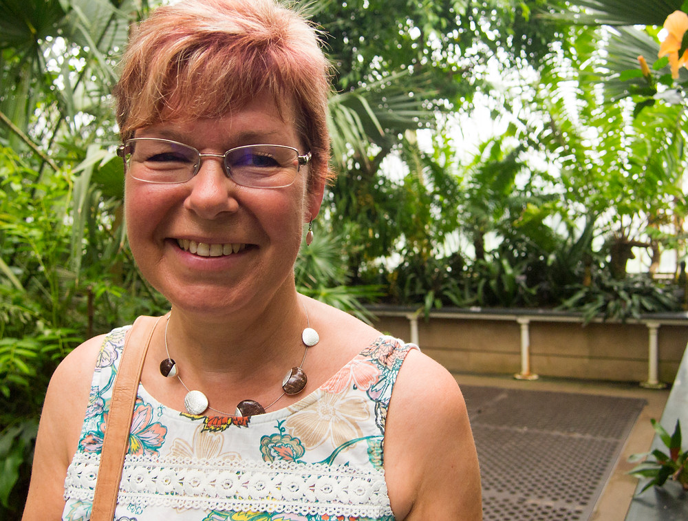 My mum at Kew Gardens