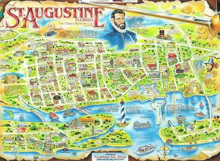 Interactive map of attractions and restaurants in St Augustine