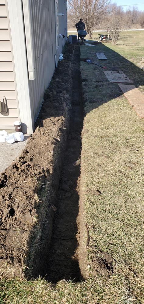 Yard drain for standing water