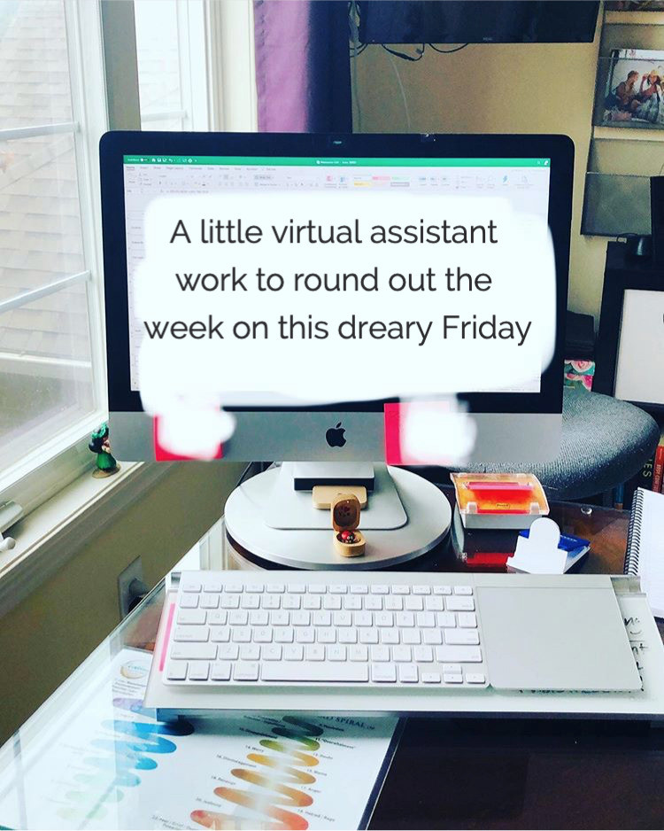 Wrapping up Virtual Assistant work