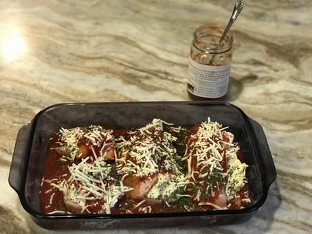 Lasagna Stuffed Chicken