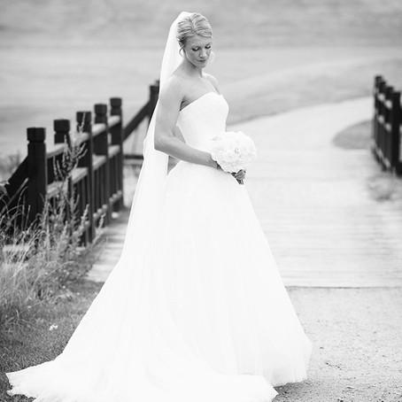 Brudepar på Oppegård Golfklubb
