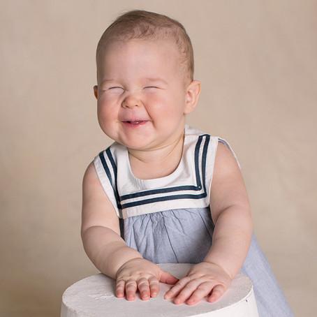 Babyfotografering av jente