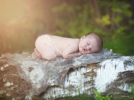 Nyfødtfotografering ute
