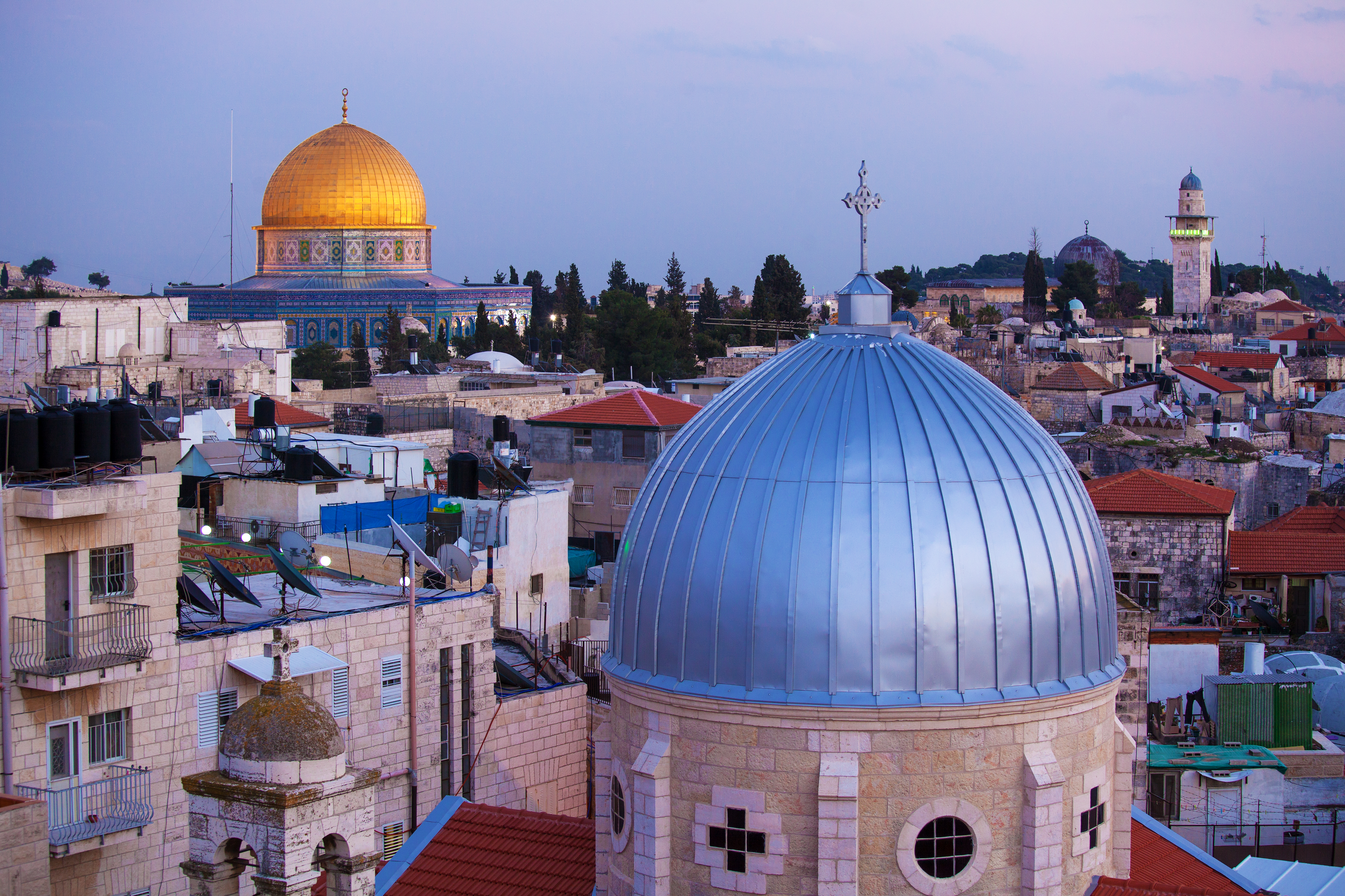 Jerusalem Old City and Temple Mount at N