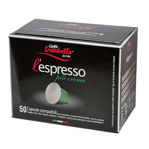 Trombetta Nespresso Capsules Piu Crema (50)
