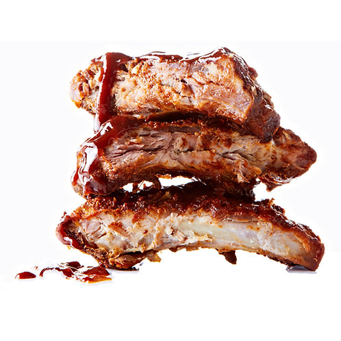 BBQ Pork Ribs, Cooked