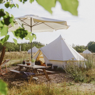 Glamping, campfire and good times