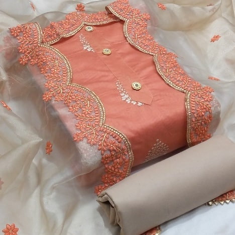 Semi Modal Unstitched Dress Material Suit For women
