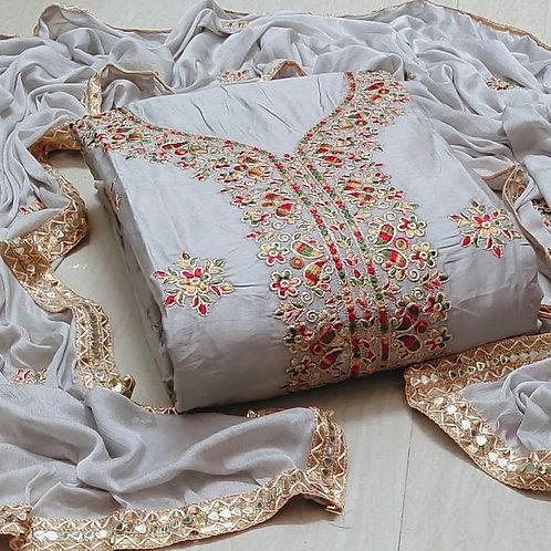 Embroidered Semi modal Dress ,Punjabi Suit ,