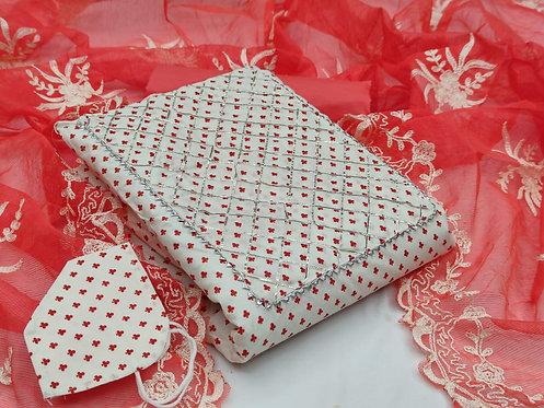 FASDEST® Cotton  Printed Unstitched Dress Material Suit