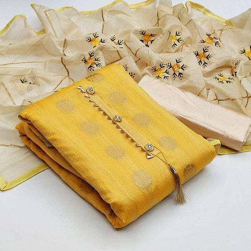 Modal Jacquard Unstitched Dress Material Suit For women
