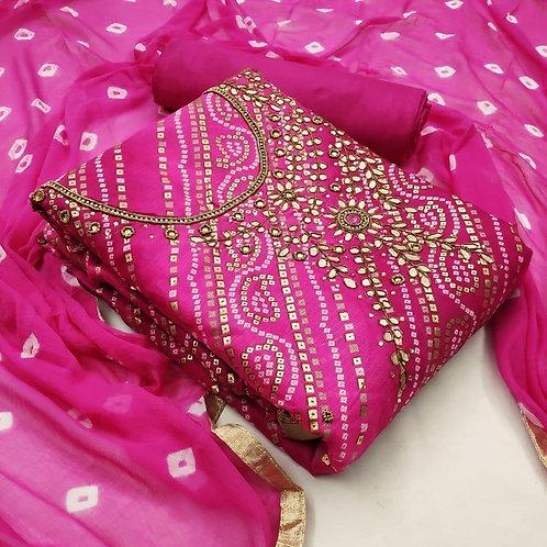 Kota Checks  Unstitched Dress Material Suit For women