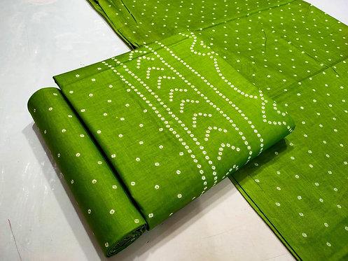 Unstitched Cotton Batik Print Dress Material Suit For Women