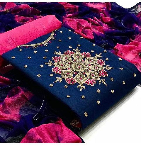 Dress with Nazmeen/Nazneen  Saburi Dupatta