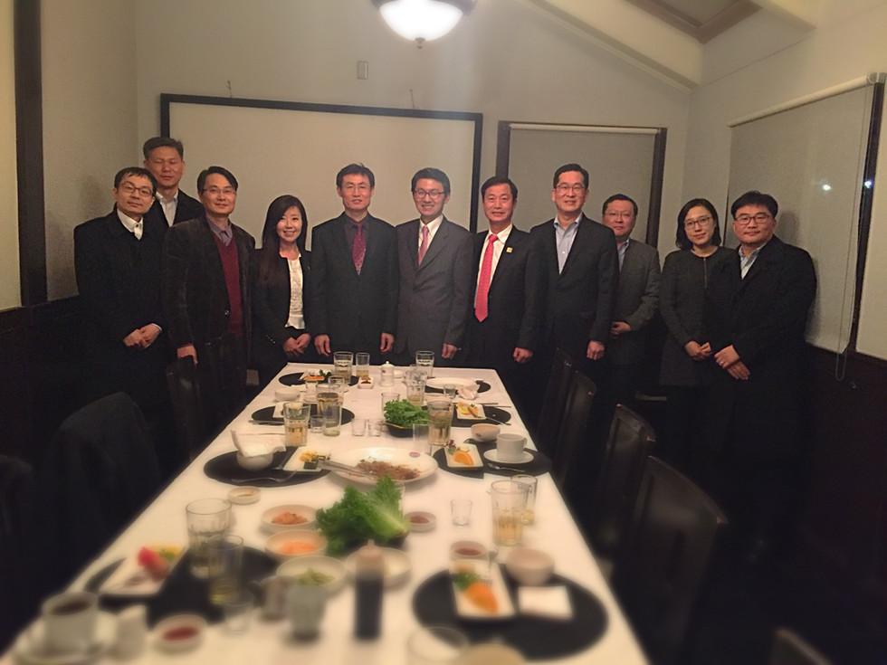 Dinner with 장완호 특허심사 기획 국장