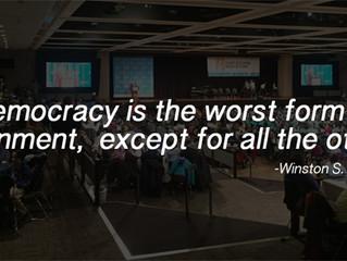 Spectacular, messy democracy