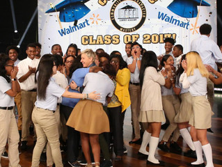 Watch Ellen DeGeneres Give College Scholarships To A Whole Senior Class