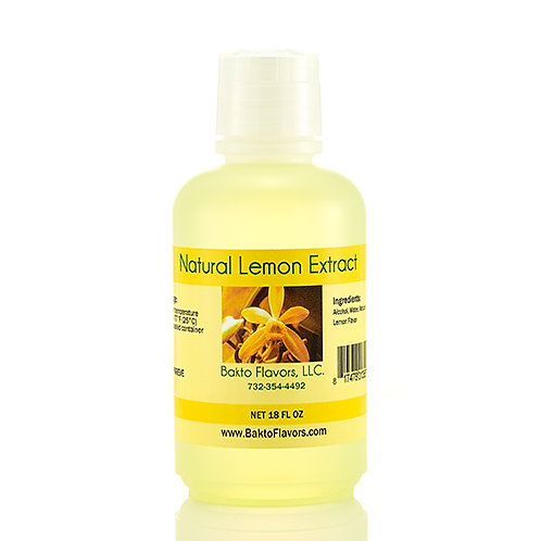 Natural Lemon Extract - 18 OZ