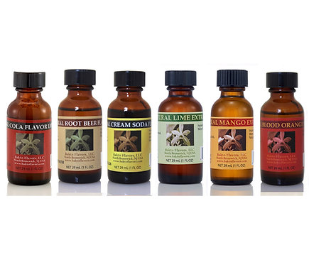 Bakto Flavors Natural SODA STREAM Flavors Collection - Set of 6