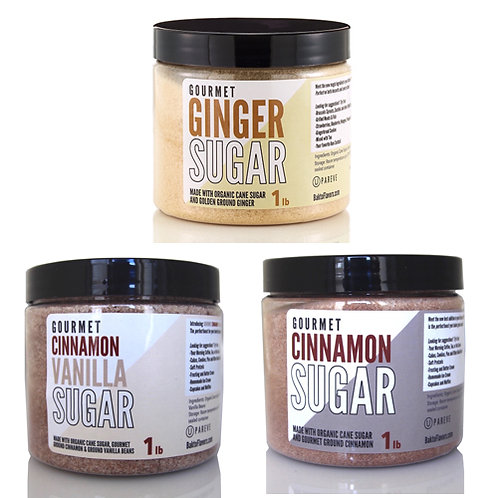 Sugar Pack 2 - Ginger, Cinnamon Vanilla, Cinnamon