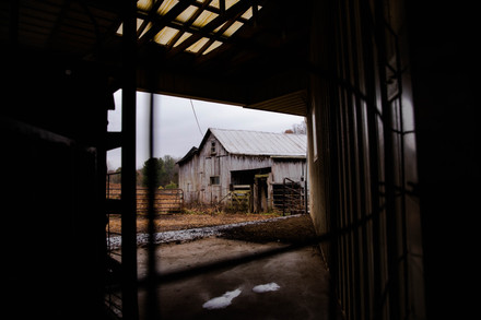 Integration Acre's goat pen embraces for the day's rain in Albany, Ohio, on Wednesday, Nov. 13, 2019.