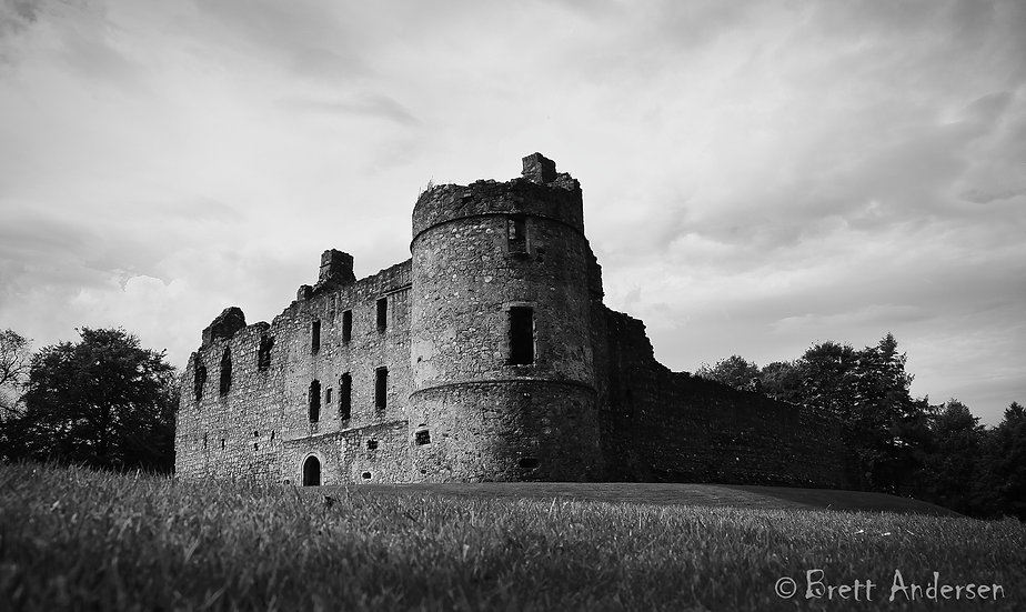 Balvenie Castle, Auchindoun near Dufftown in Moray, Scotland.