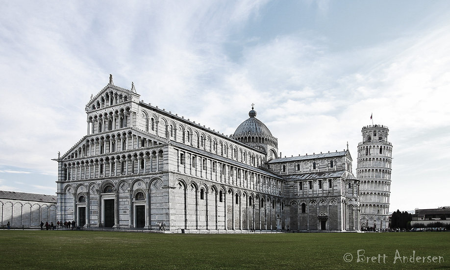 Pisa Cathedral with the Leaning Tower, Pisa, Italy.