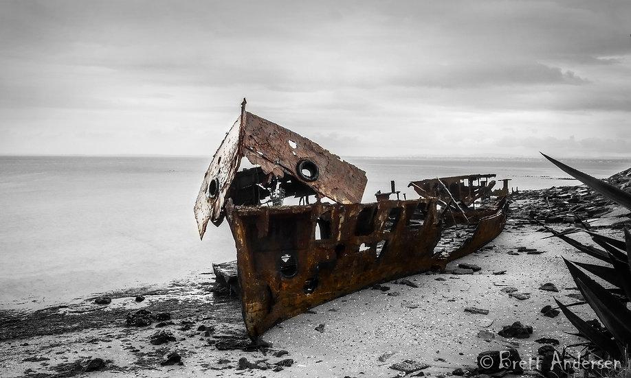 The wreck of HMQSGayundah, Woody Point, Qld, Australia.