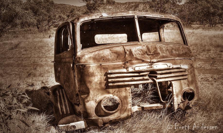 Rustic Old Car at Mt Frosty, Near Mt Isa, Qld, Australia.