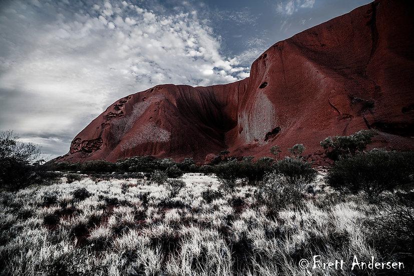 Infrared Image at Uluru (Ayers Rock), Northern Territory, Australia.