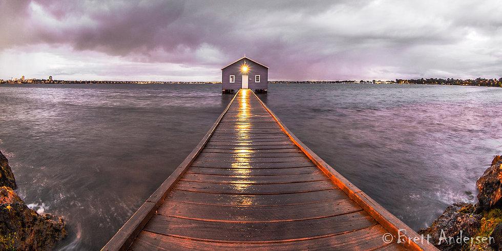 Crawley Boat House after Sunset, Perth, WA