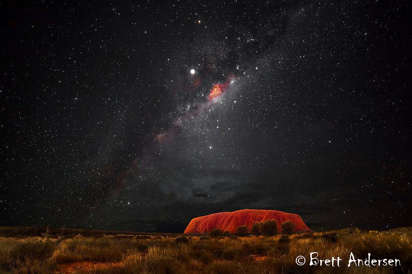 Milky Way at Uluru (Ayers Rock), Northern Territory, Australia.