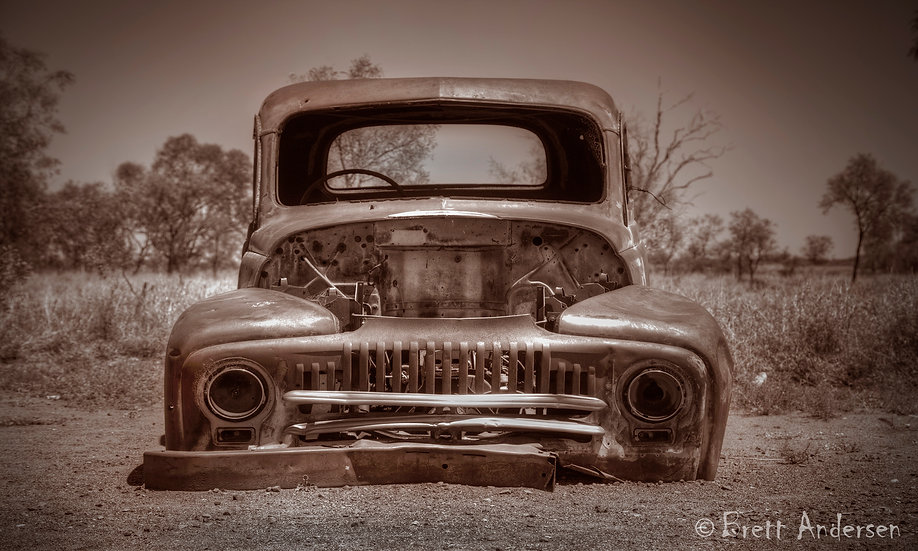 Rustic Old Car at Wauchope, Near Tennant Creek, NT, Australia.