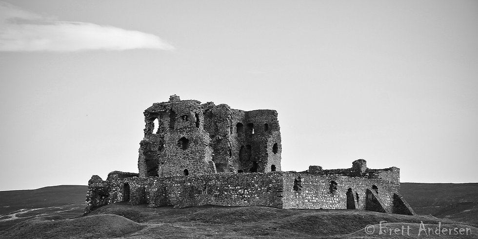 Auchindoun Castle, Auchindoun near Dufftown in Moray, Scotland.