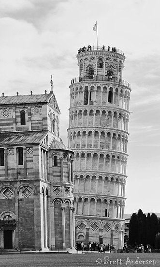 The Leaning Tower of Pisa, Pisa, Italy.