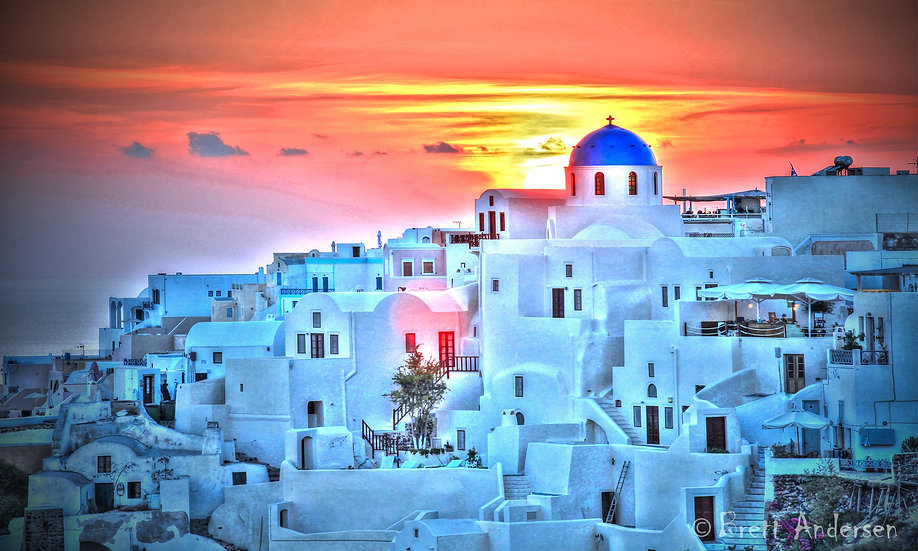 Sunset at Santorini, Greek Islands
