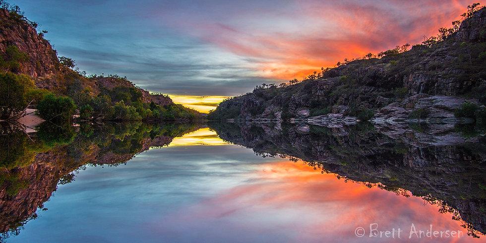 Sunset at Katherine Gorge, Nitmiluk National Park, NT