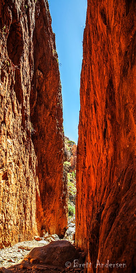 Standley Chasm (Angkerle) in the West MacDonnell Ranges, NT